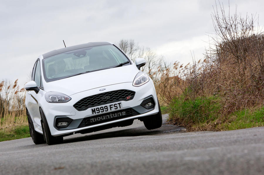 Ford Fiesta ST Mountune m235 2020 first drive review - cornering front