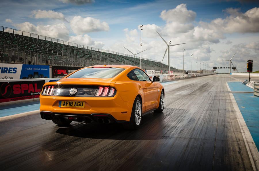 Ford Mustang GT 5.0 2018 UK review static rear