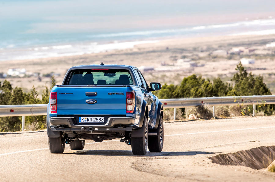 Ford Ranger Raptor 2019 first drive review - cornering rear