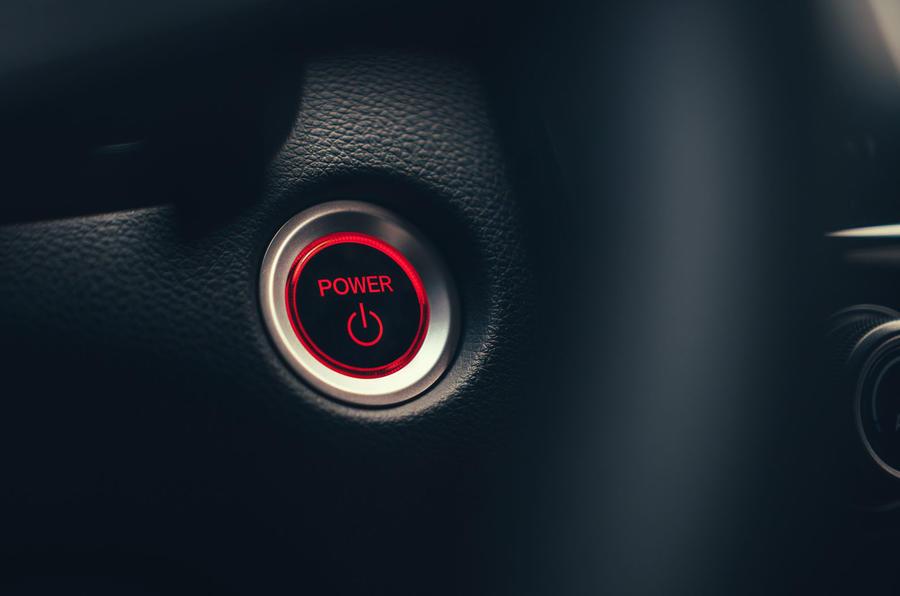 Honda CR-V hybrid 2019 first drive review - start button