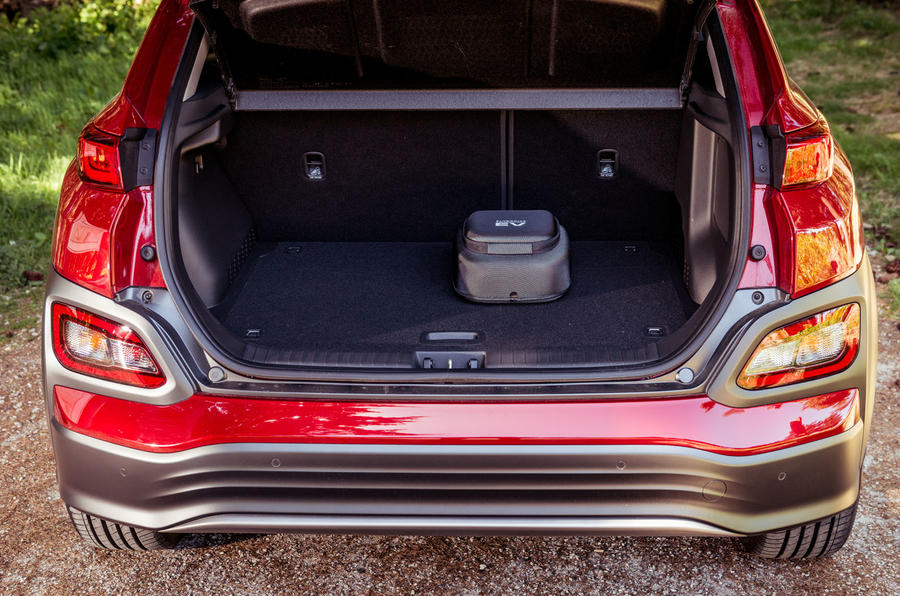 Hyundai Kona EV prototype drive 2018 boot
