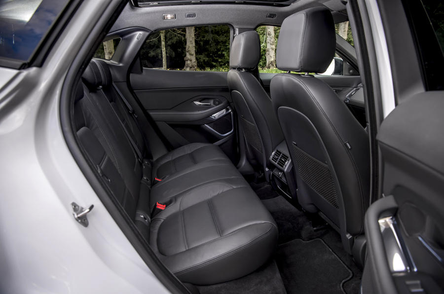 Jaguar E-Pace D150 2018 review rear seats