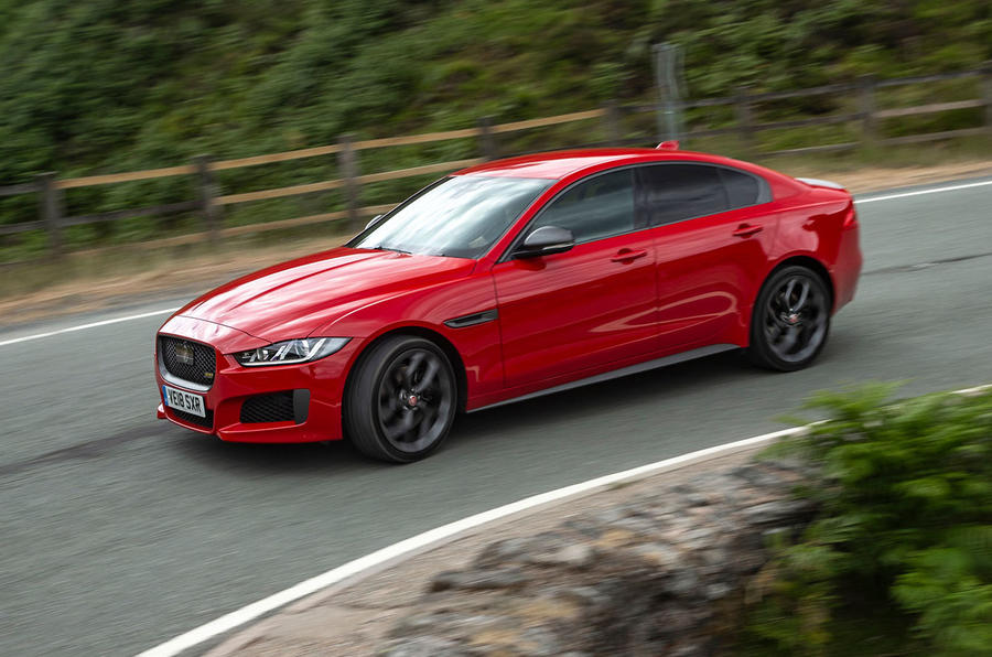 Jaguar XE 300 Sport 2018 UK first drive review cornering front