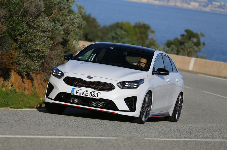 Kia Proceed 2019 first drive review - cornering front