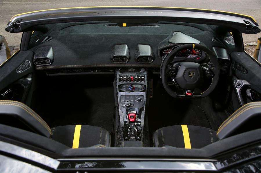 Lamborghini Huracan Performante Spyder 2018 UK review cabin