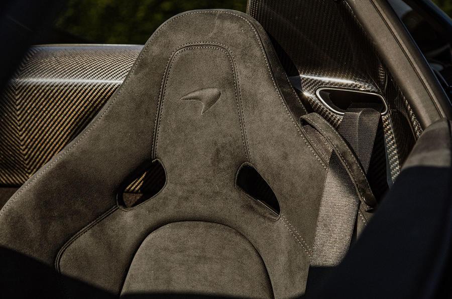 McLaren 720S Spider 2019 UK first drive - seat details