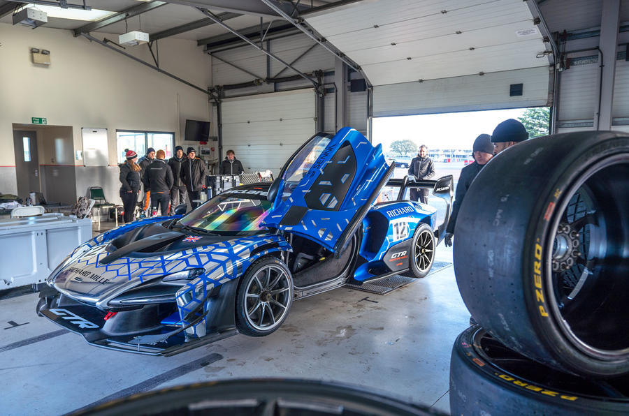 McLaren Senna GTR 2019 first drive review - pitlane side