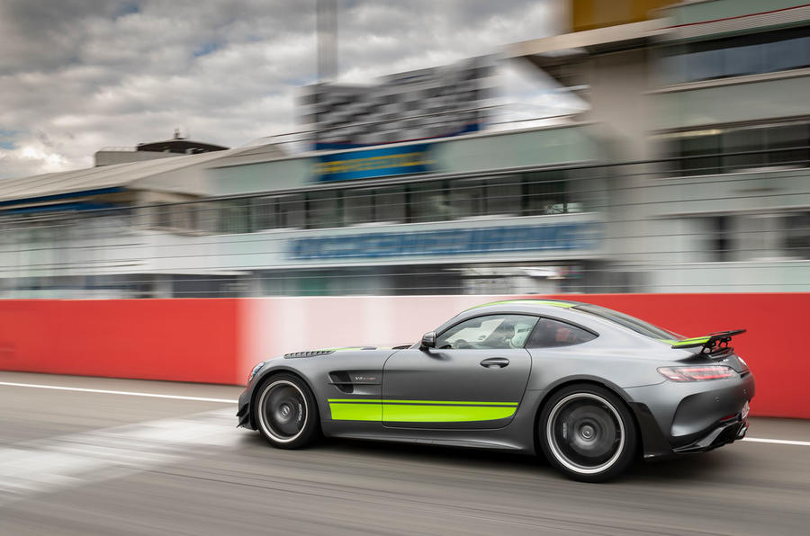 Mercedes-AMG GT R Pro on circuit - side