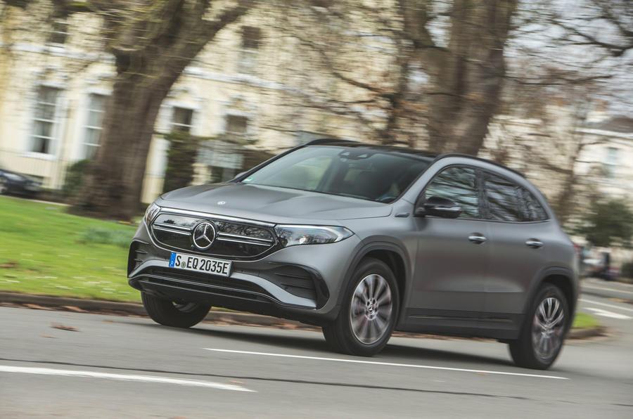 16 Mercedes Benz EQA 2021 : premier examen de conduite sur la route au Royaume-Uni
