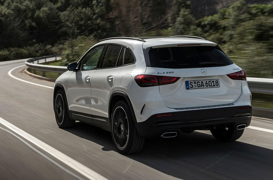 Mercedes-Benz GLA 2020 UK first drive review - on the road rear