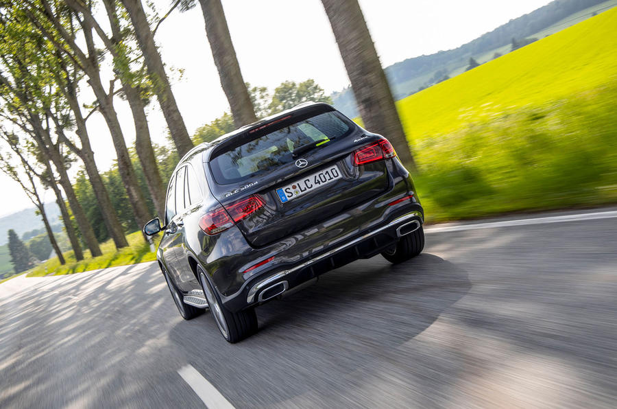 Mercedes-Benz GLC 300d 2019 first drive review - on the road rear