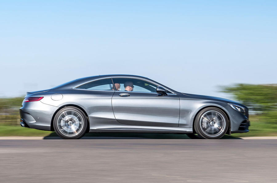 Mercedes-Benz S560 Coupe 2018 UK review on the road side