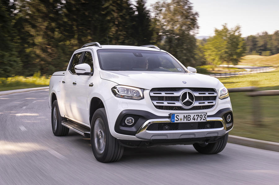 Mercedes-Benz X-Class X350d 2018 first drive review cornering front