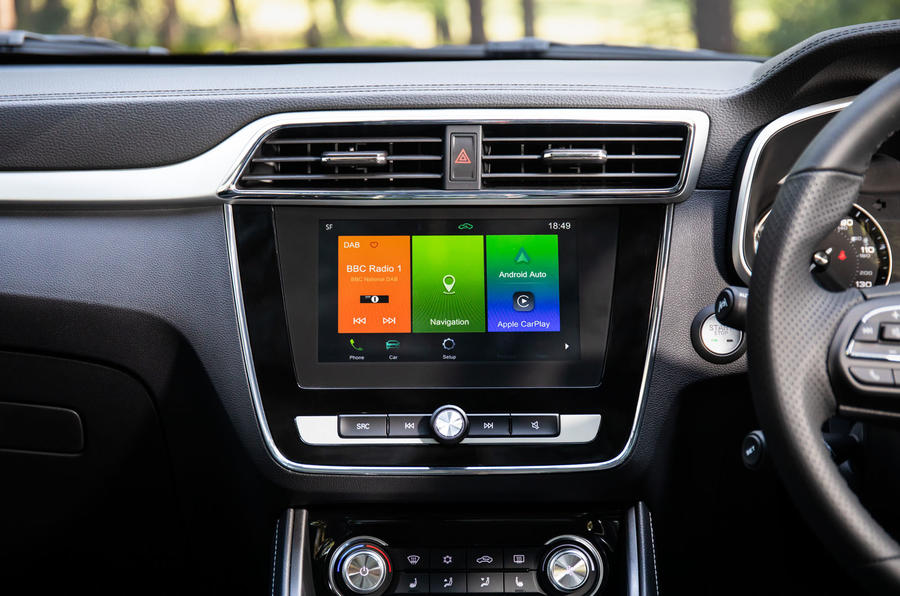 MG ZS EV 2019 UK first drive review - infotainment