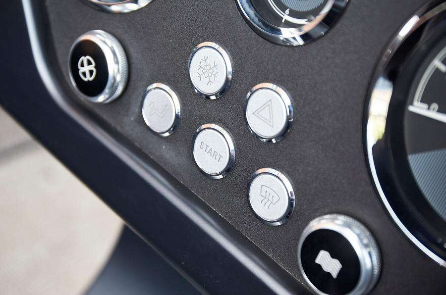 Morgan Plus Four 2020 UK first drive review - start button
