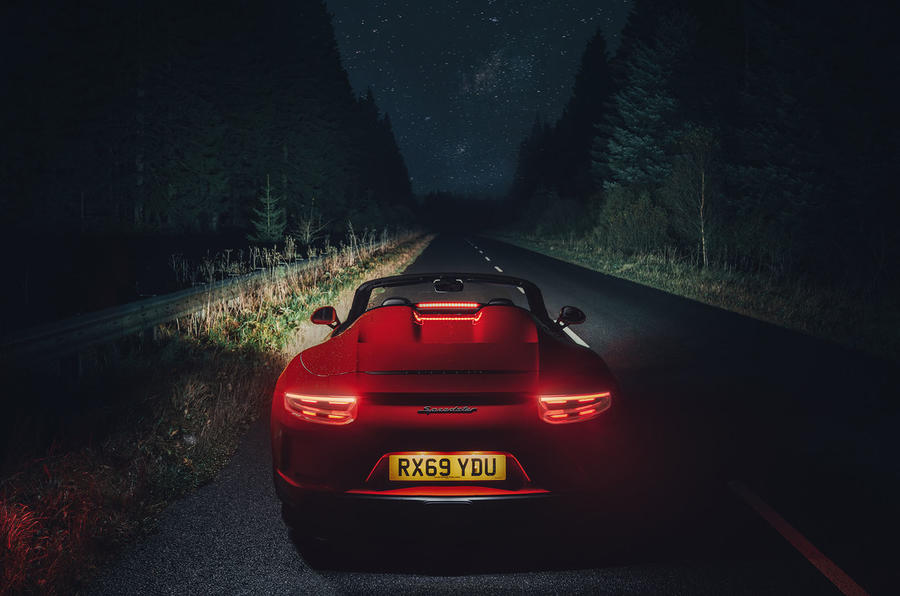 Porsche 911 Speedster 2019 UK first drive review - static night
