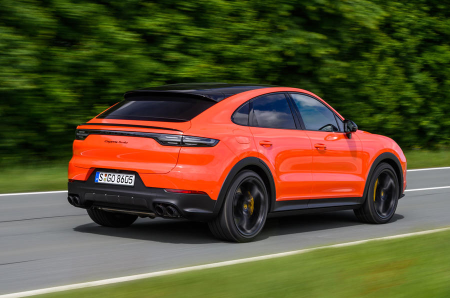 Porsche Cayenne Coupé 2019 first drive review - action rear