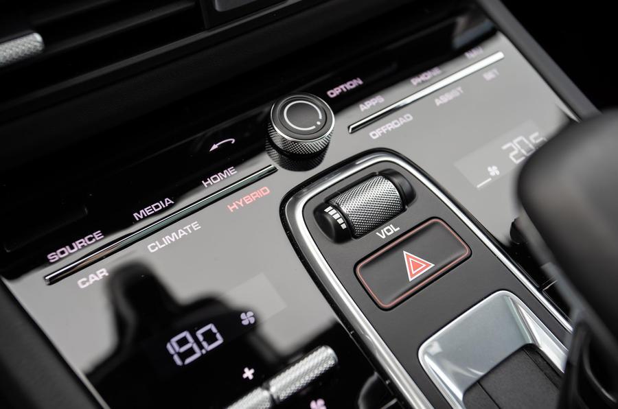 Porsche Cayenne E-Hybrid 2018 review hybrid controls