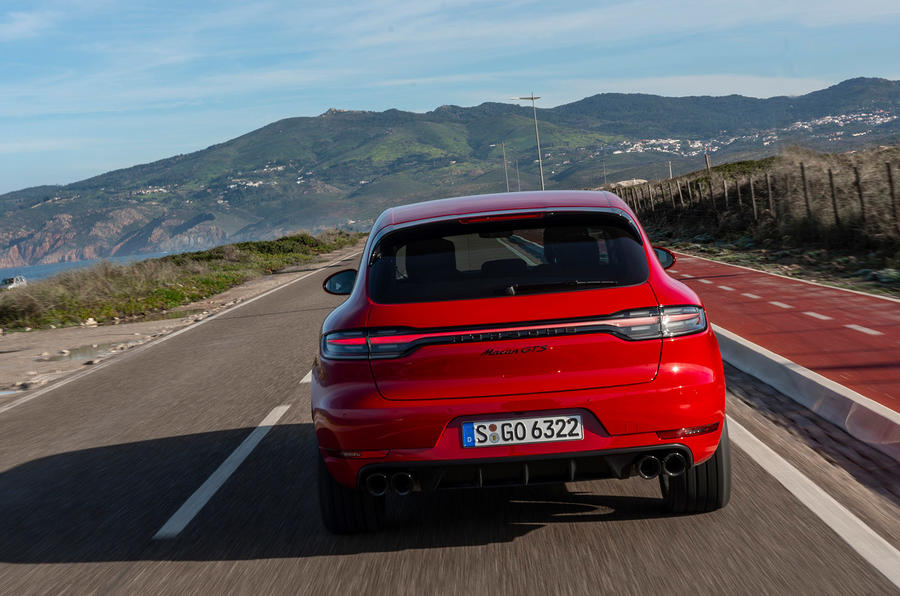 Porsche Macan GTS 2020 first drive review - on the road rear