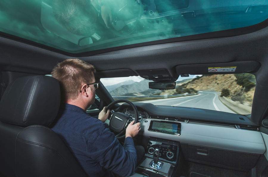 Range Rover Evoque 2019 first drive review - Matt Saunders driving
