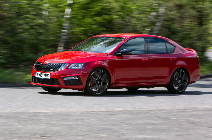 Skoda Octavia vRS Challenge 2019 UK first drive review - on the road front