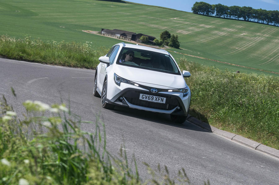 Toyota Corolla Trek 2020 UK first drive review - cornering front
