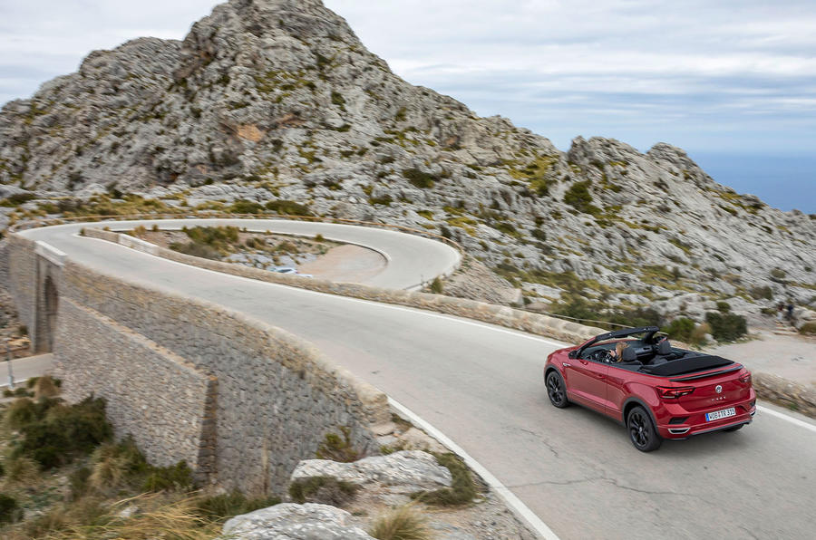 Volkswagen T-Roc Cabriolet 2020 first drive review - on the road