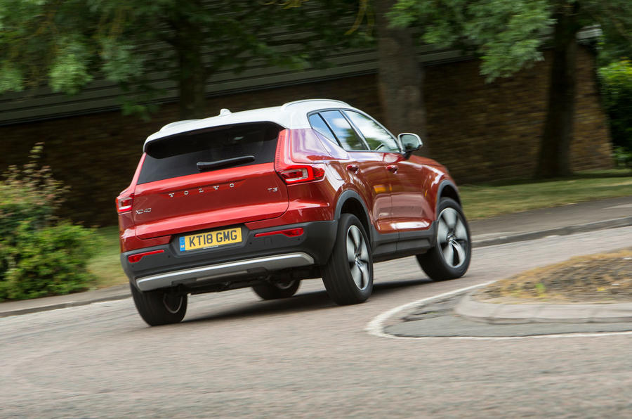 Volvo XC40 T3 2018 first drive review on the road rear