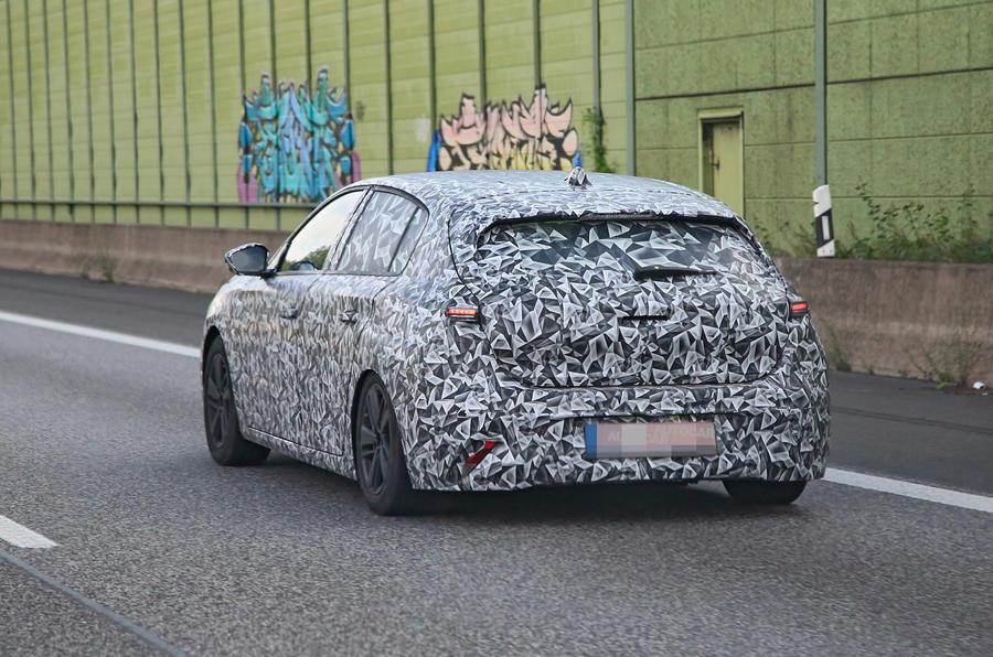 2022 Peugeot 308 prototype - rear