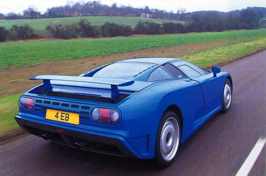 Bugatti EB110 GT rear view
