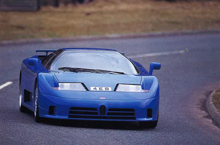 Bugatti EB110 GT front view