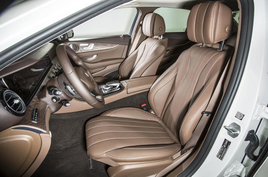 Mercedes-Benz E 350 e front seats