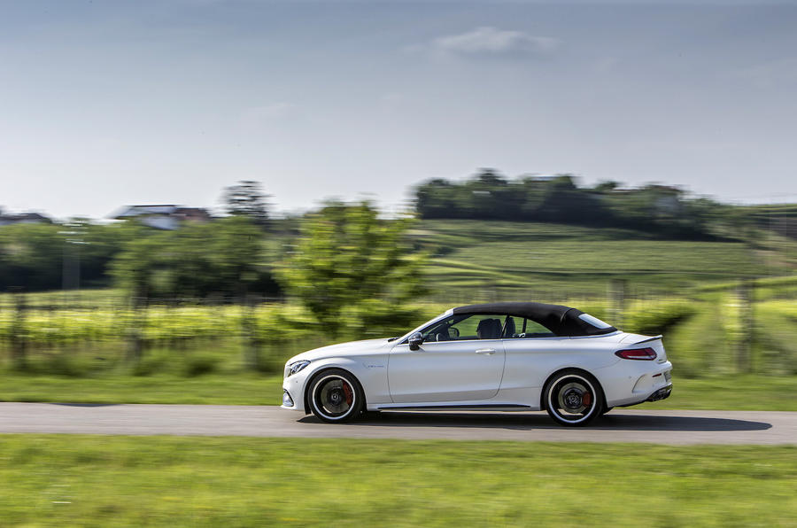 Mercedes-AMG C 63 S roof up