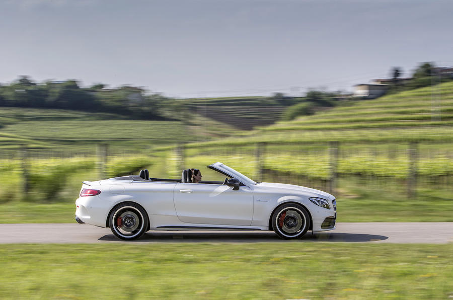 Mercedes-AMG C 63 S roof down
