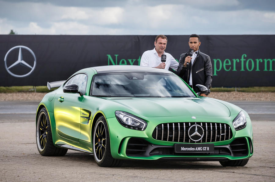d5b4dd8fb37 Lewis Hamilton and Tobias Moers with the Mercedes-AMG GT R ...