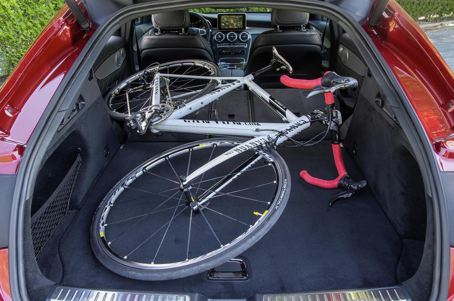 Mercedes-Benz GLC Coupé rear seats folded