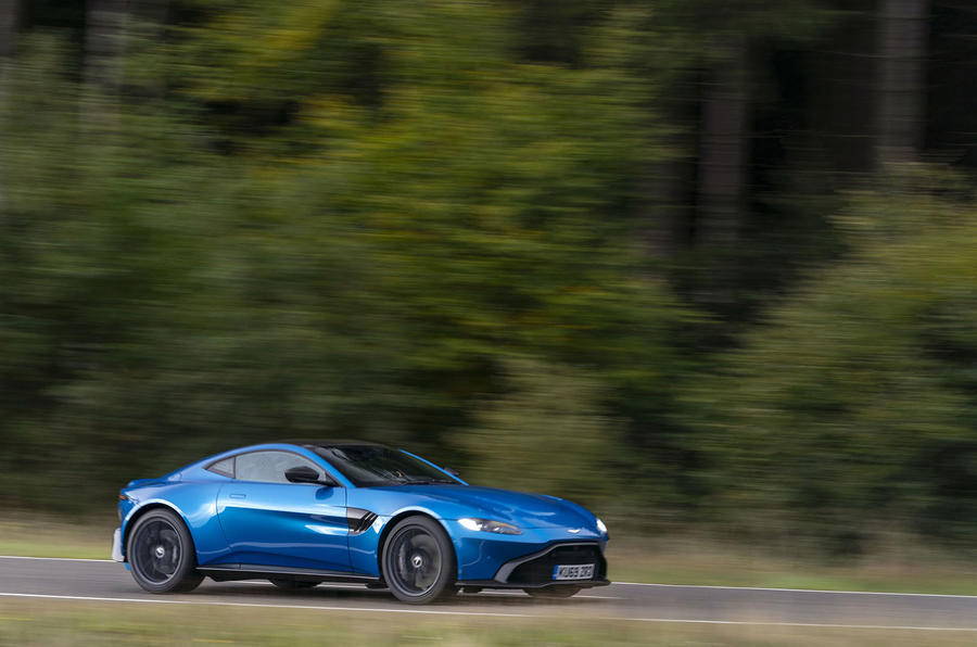 Aston Martin Vantage manual 2019 first drive review - on the road side