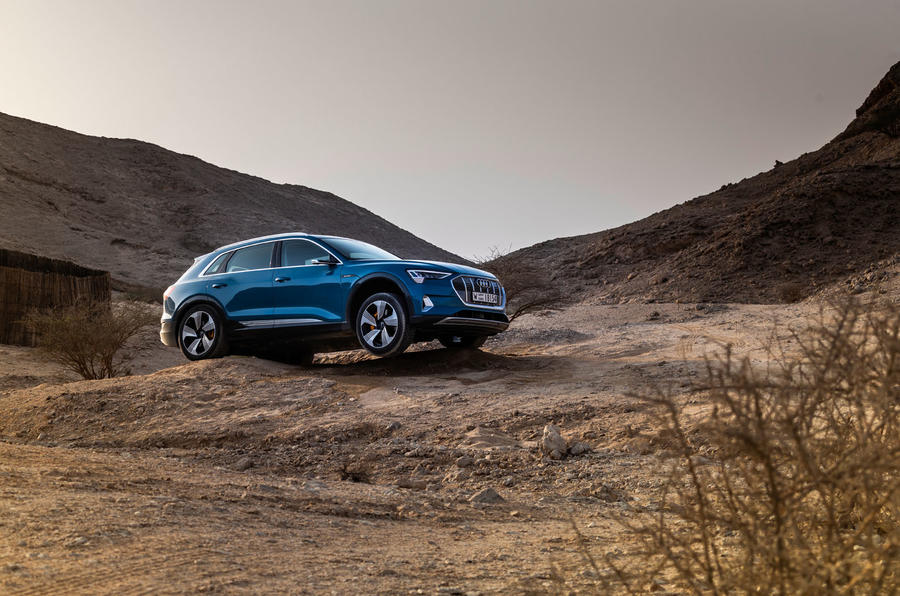 Audi E-tron quattro 2018 first drive review - offroad side