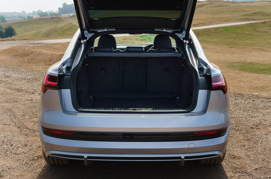 Audi E-tron Sportback 55 2020 UK first drive review - boot