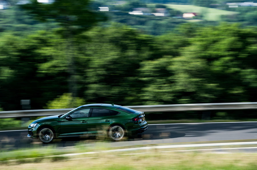 Audi RS5 Sportback 2019 first drive review - on the road side