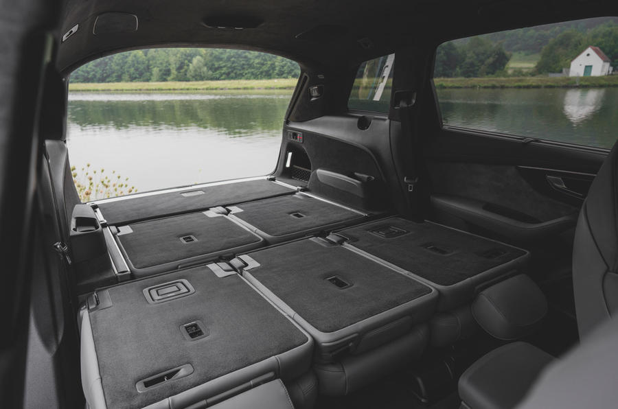 Audi SQ7 2020 first drive review - folded rear seats