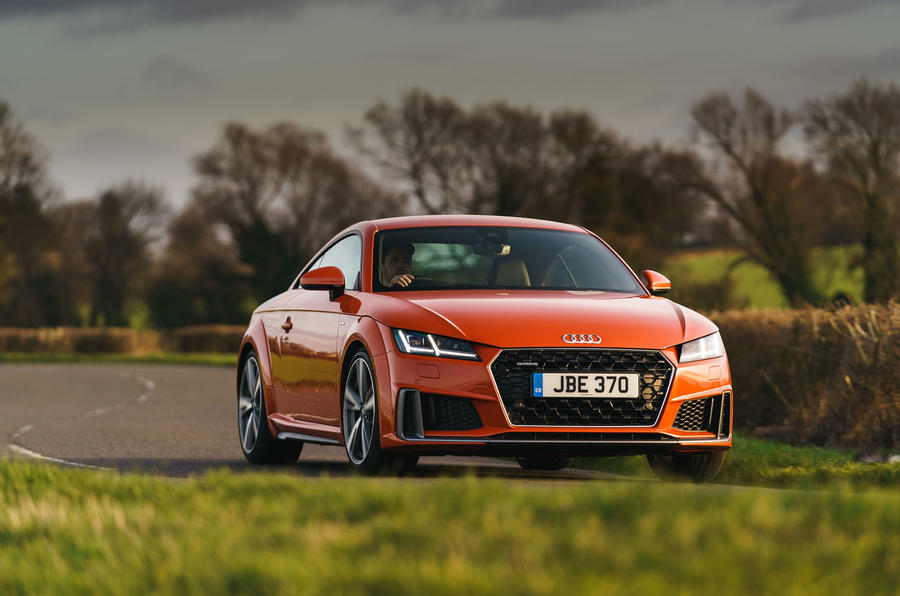 Audi TT Coupe 2019 UK first drive review - cornering front