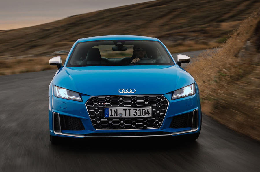 Audi TTS 2018 first drive review on the road front