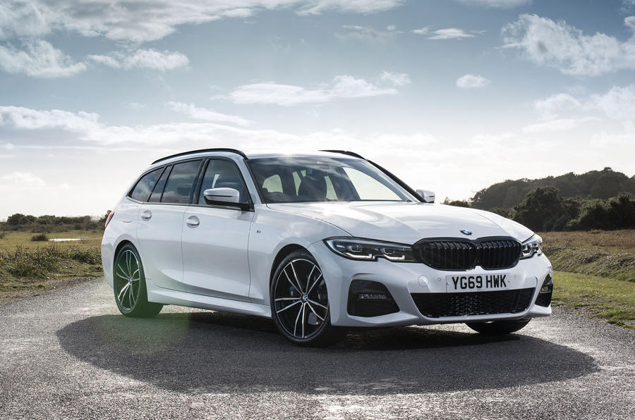 BMW 3 Series Touring 330d 2019 UK first drive review - static front
