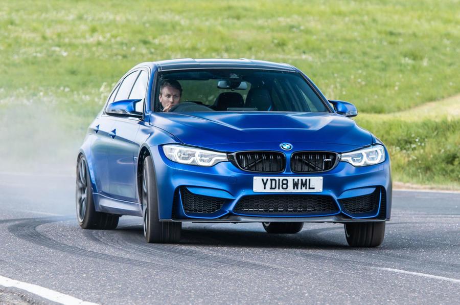 BMW M3 CS 2018 review cornering front