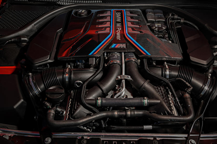 BMW M8 Competition Coupé 2019 first drive review - engine