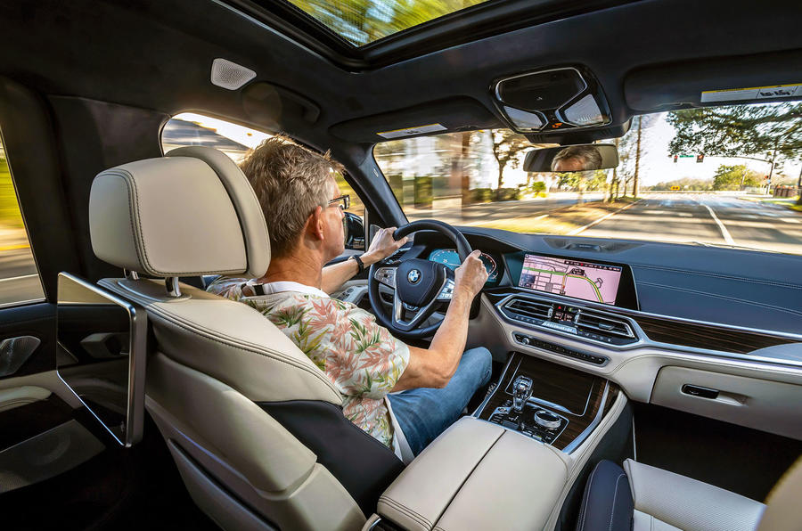 BMW X7 2019 first drive review - Richard Bremner driving