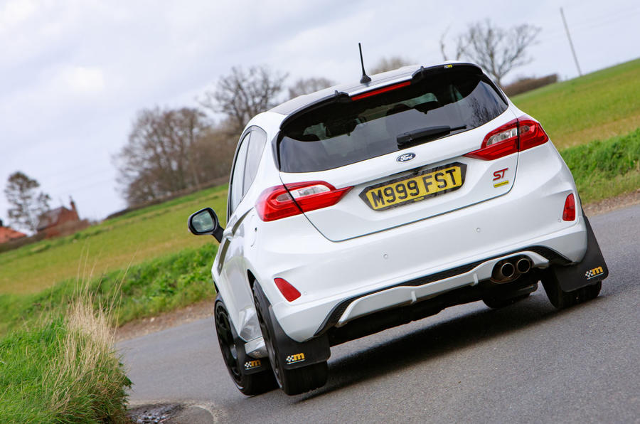 Ford Fiesta ST Mountune m235 2020 first drive review - cornering rear