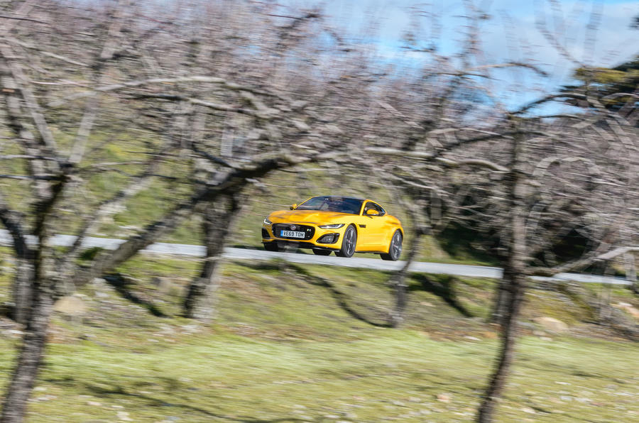 Jaguar F-Type Coupé 2020 first drive review - through trees