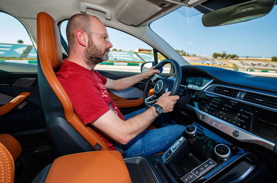 Jaguar I-Pace 2018 review Matt Prior driving